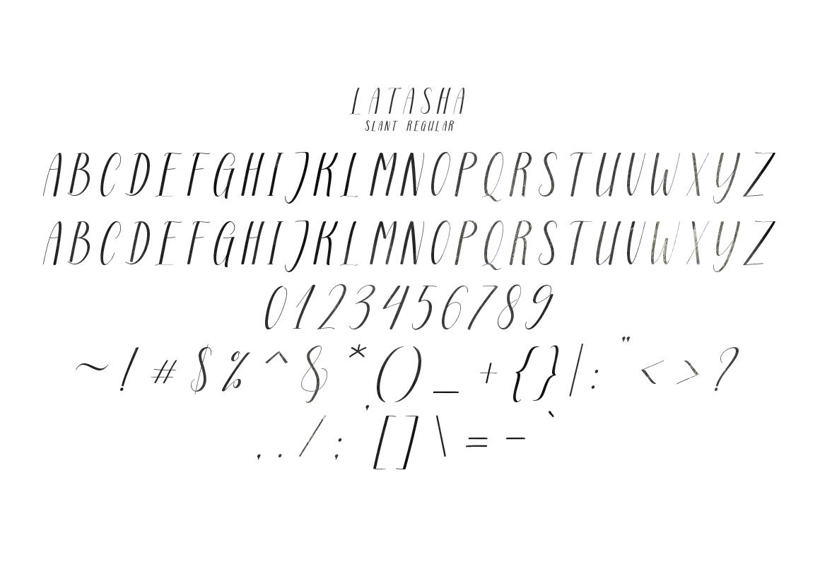 Latasha Font Family - 6 Font example image 11