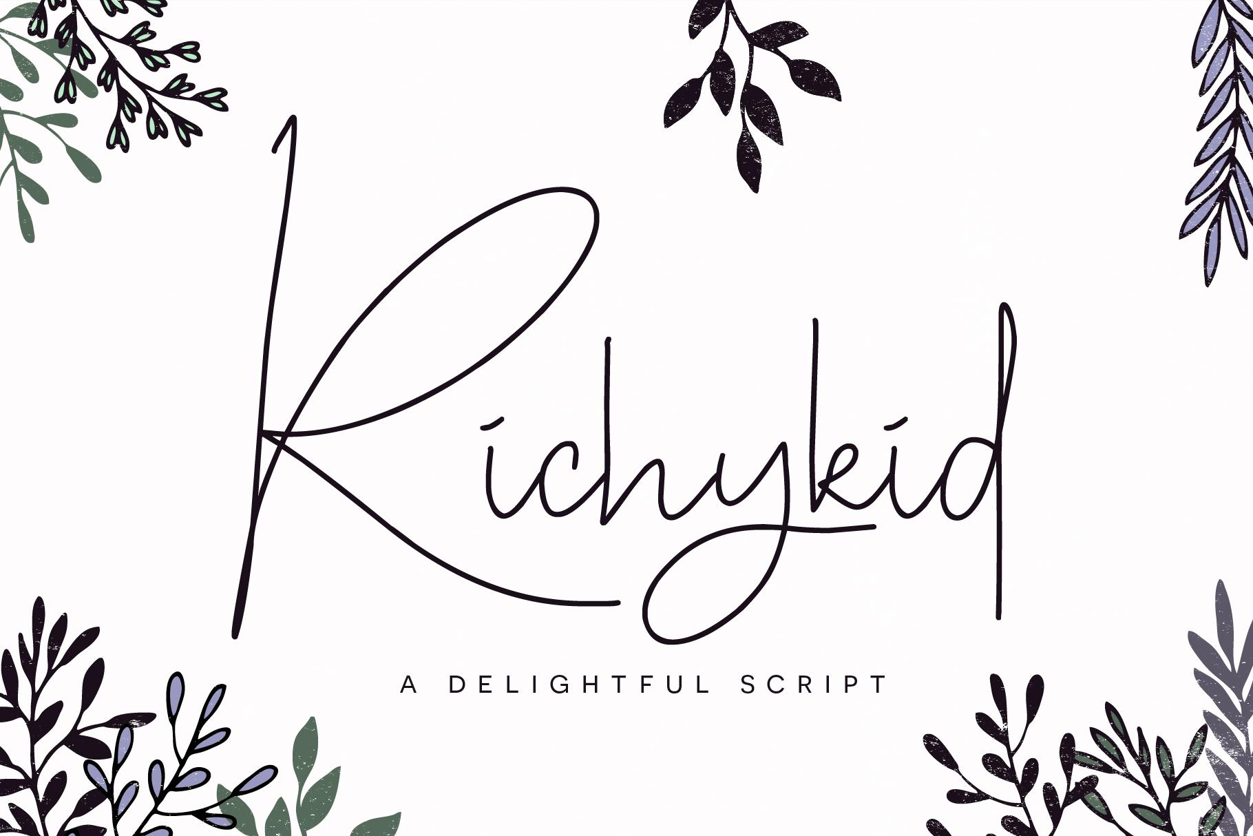 Richykid Font example image 1