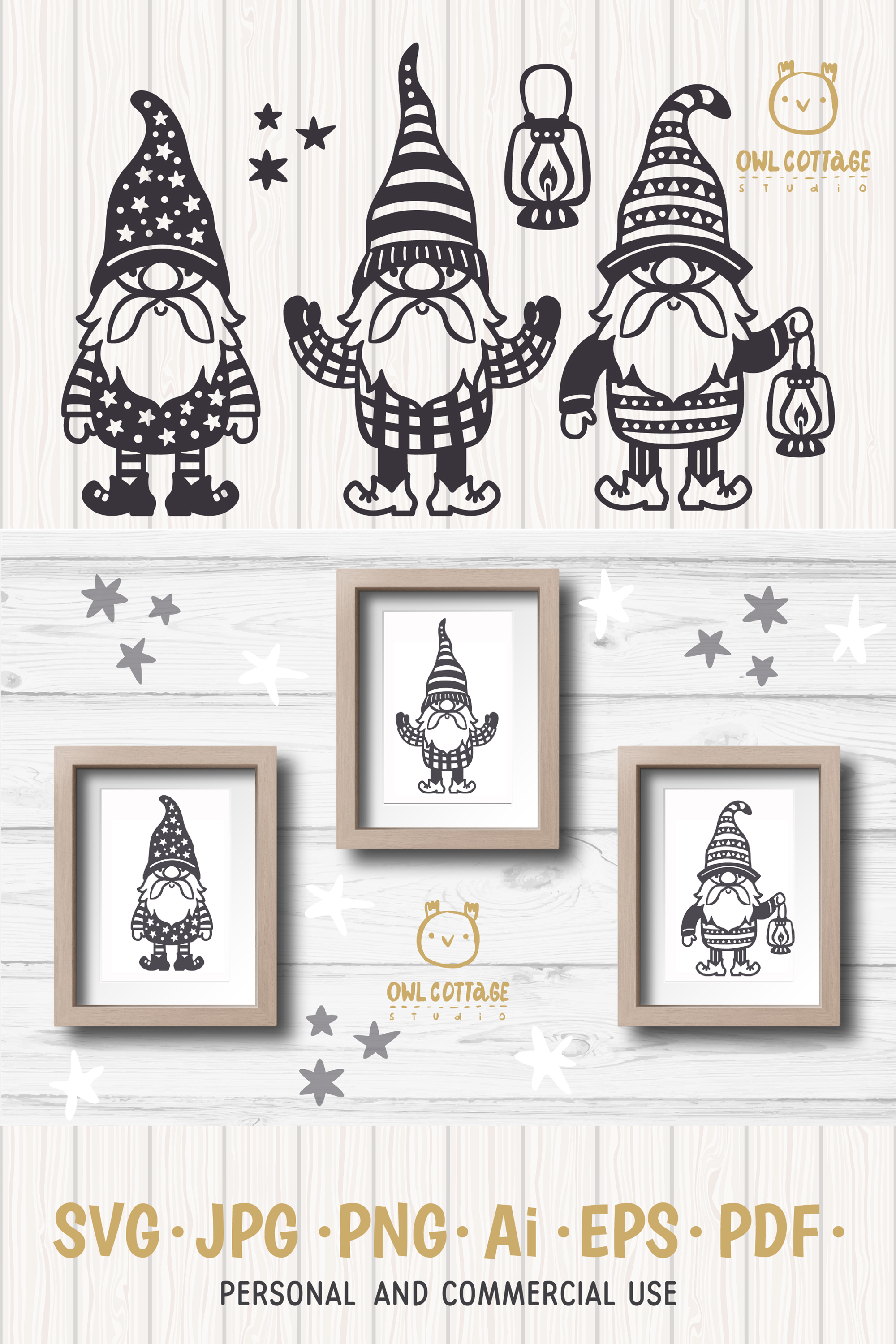 Scandinavian Gnomes SVG, Gnome Clipart, Tomte example image 15