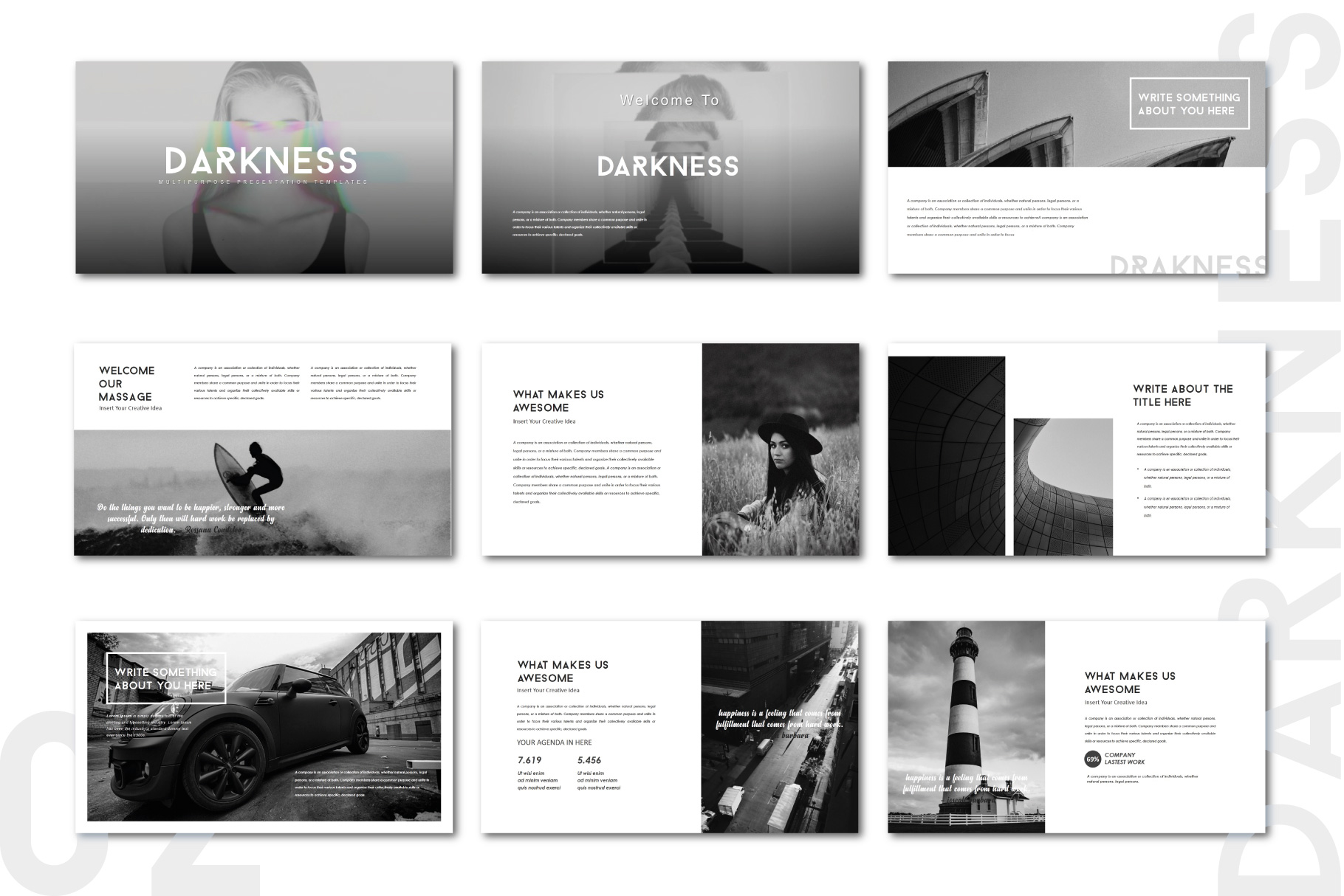 Darkness Multipurpose PowerPoint Templates example image 2