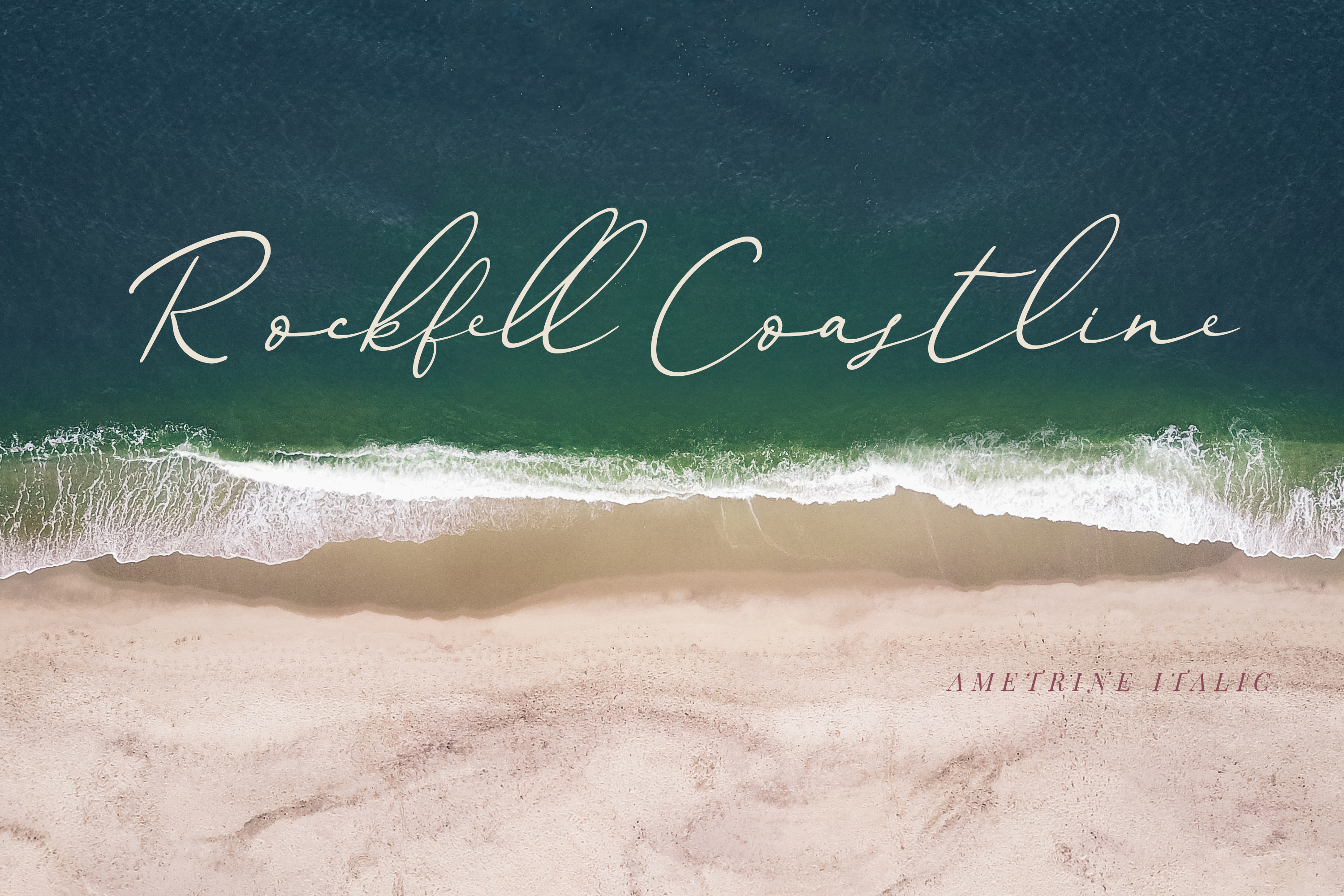 Ametrine, super-casual style font example image 11