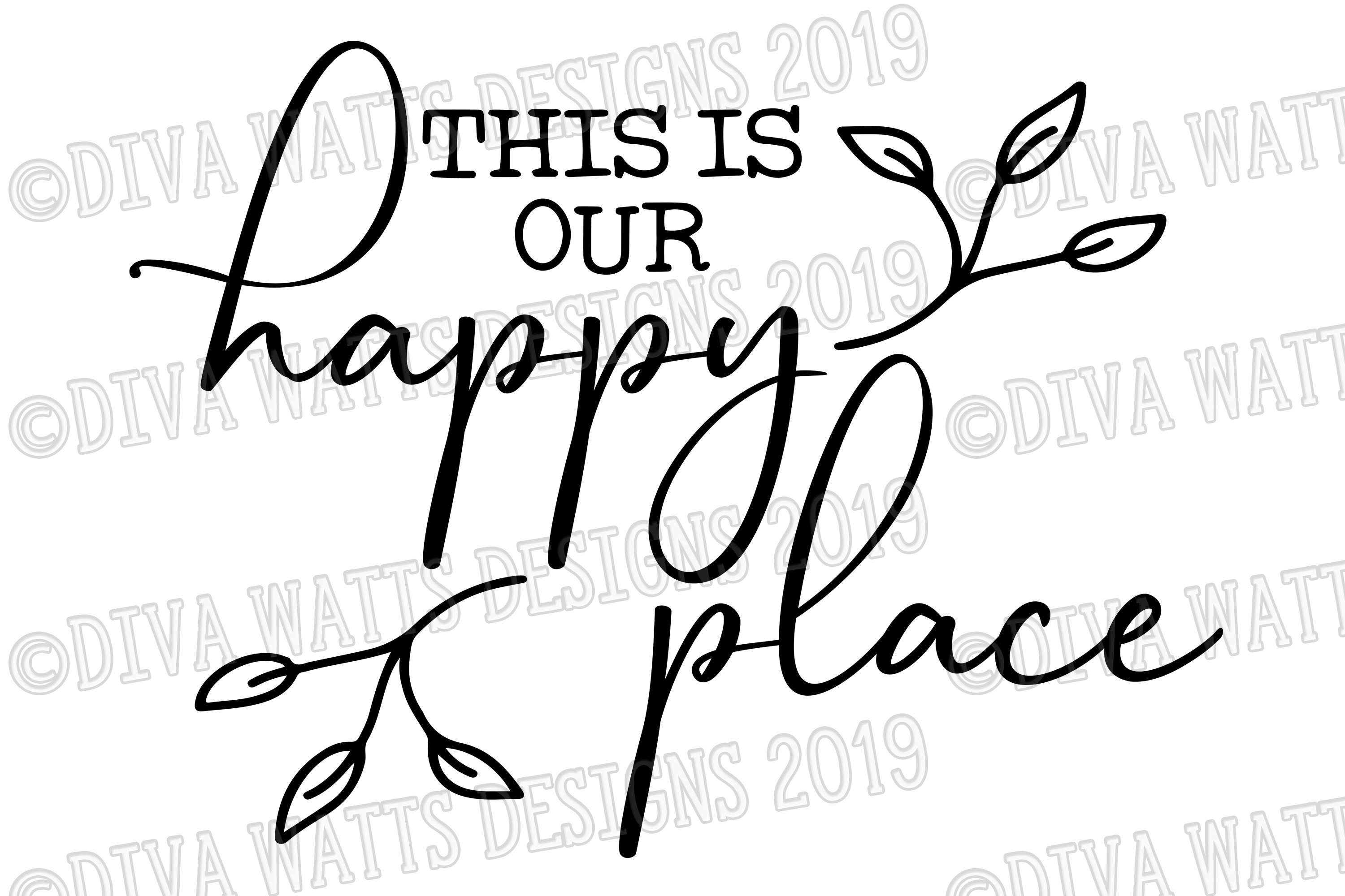 This Is Our Happy Place Farmhouse Fixer Upper Cutting File example image 2