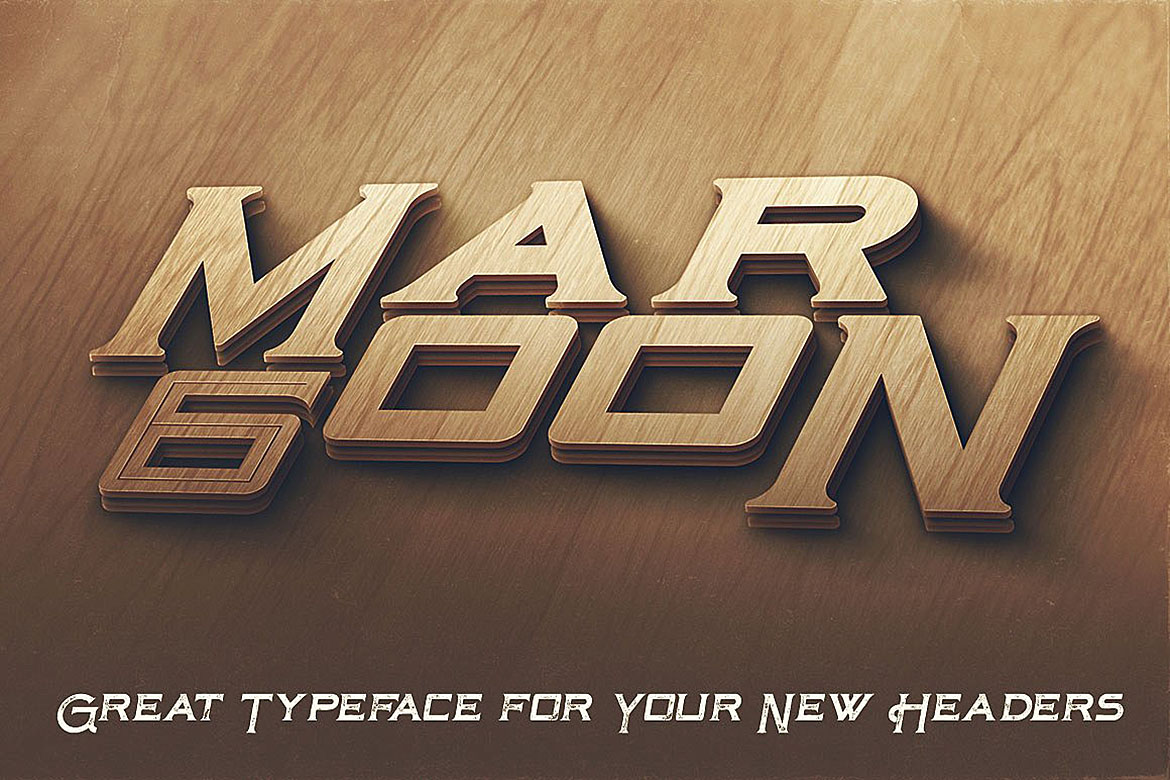 Maroon - Vintage Style Font example image 4