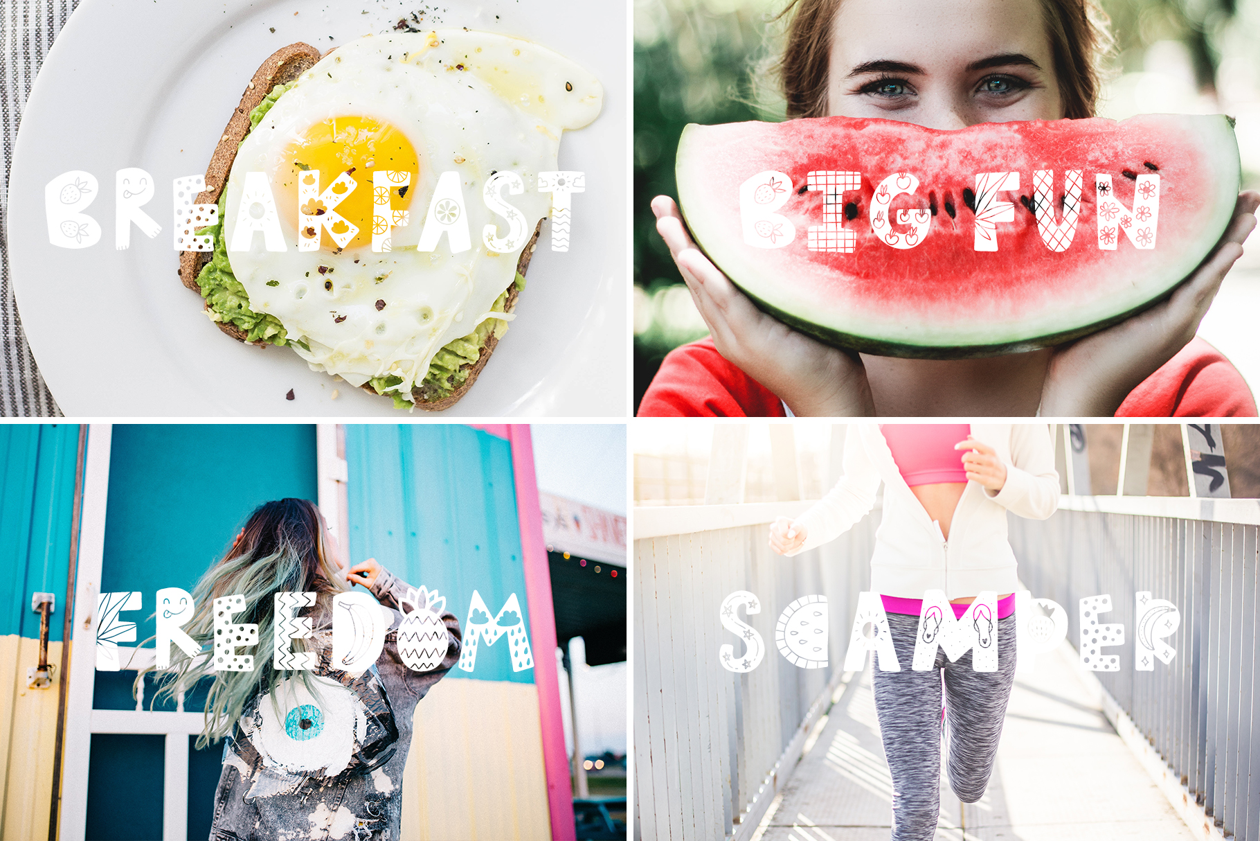 Summer Day Typeface with Clipart! example image 2