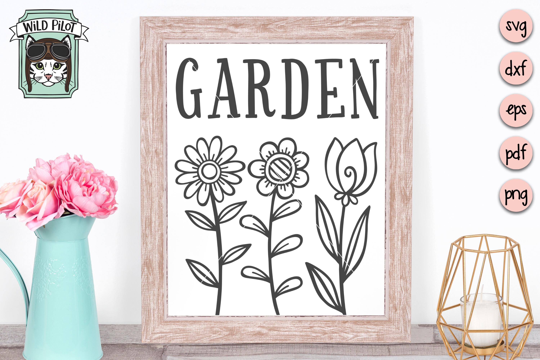 Garden SVG file, Garden Sign, Flower Garden, Spring example image 3
