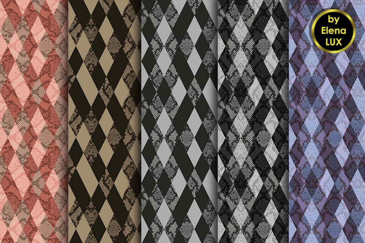 Snakeskin Seamless Big Set example image 4
