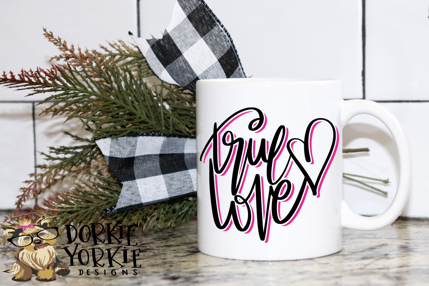 True Love - Hand lettered - Heart - SVG Cut example image 3