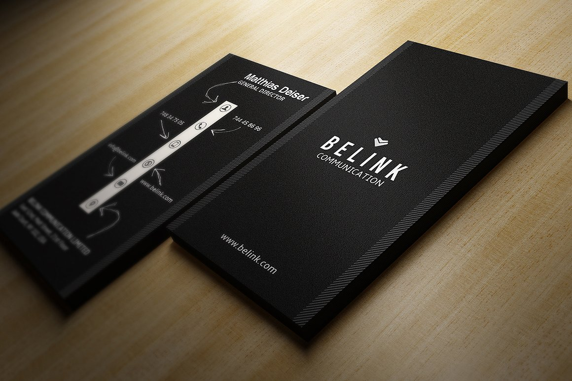 Creative Black Business Card example image 2