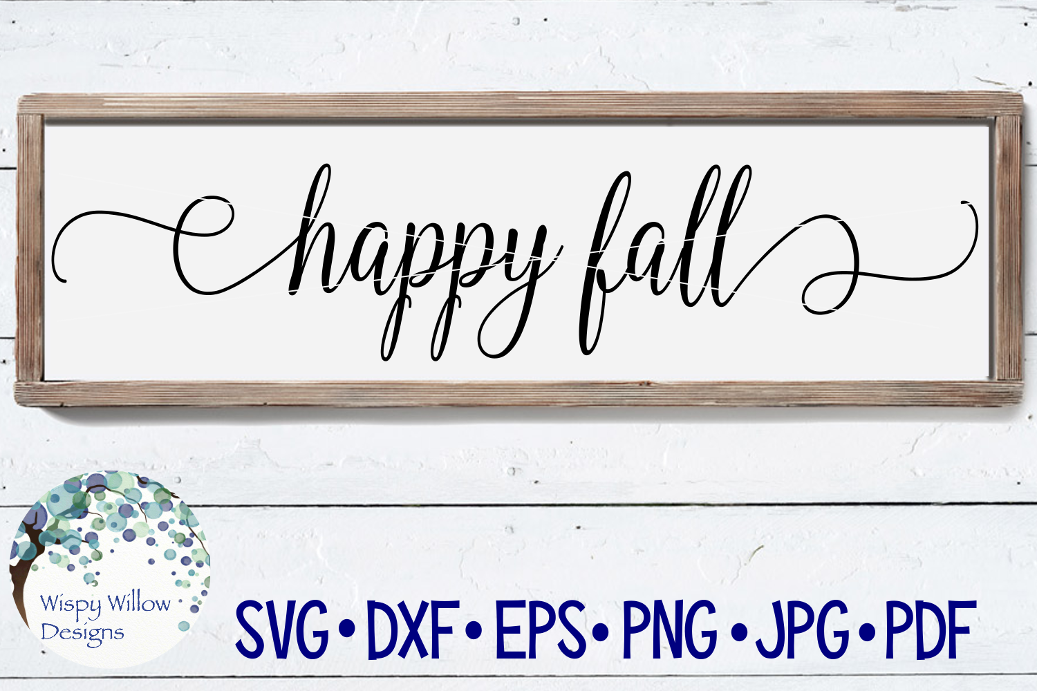 Happy Fall | Wood Sign SVG Cut File example image 1