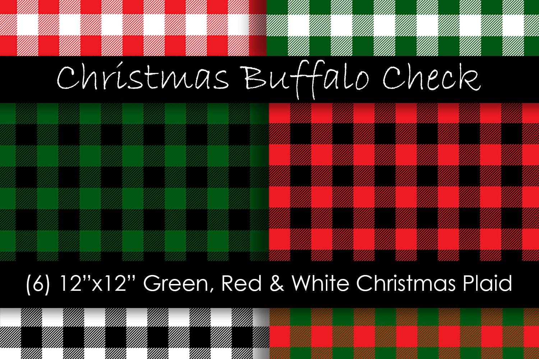 Christmas Plaid Digital Papers - Christmas Buffalo Check example image 1
