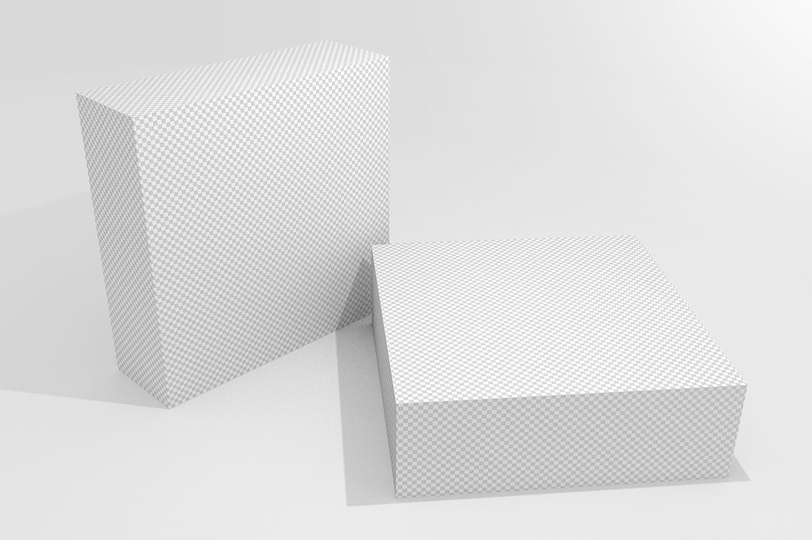 3.3.1 Simple 3D Box Mockup PSD example image 2