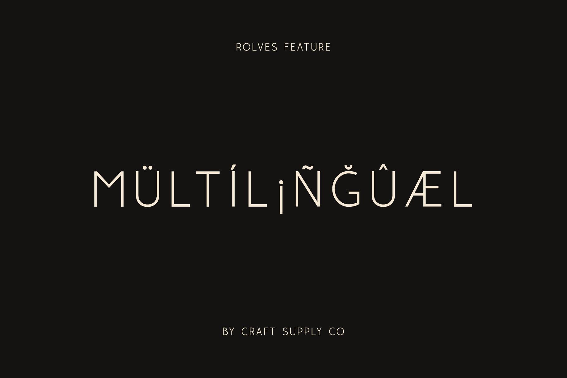 Rolves - Sans Serif Font Family example image 2