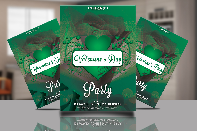 Valentines Day Flyer Bundle example image 5