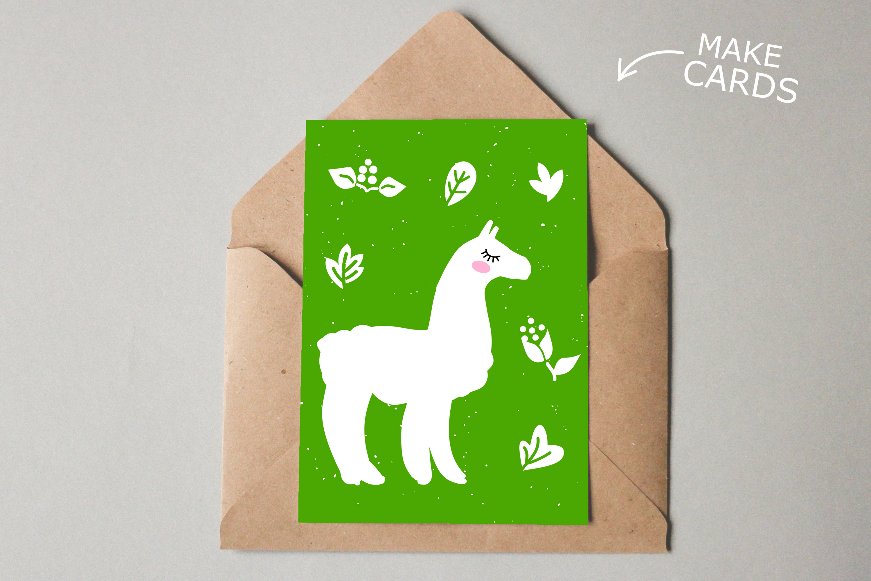 Alpaca Bundle SVG DXF EPS PNG example image 4
