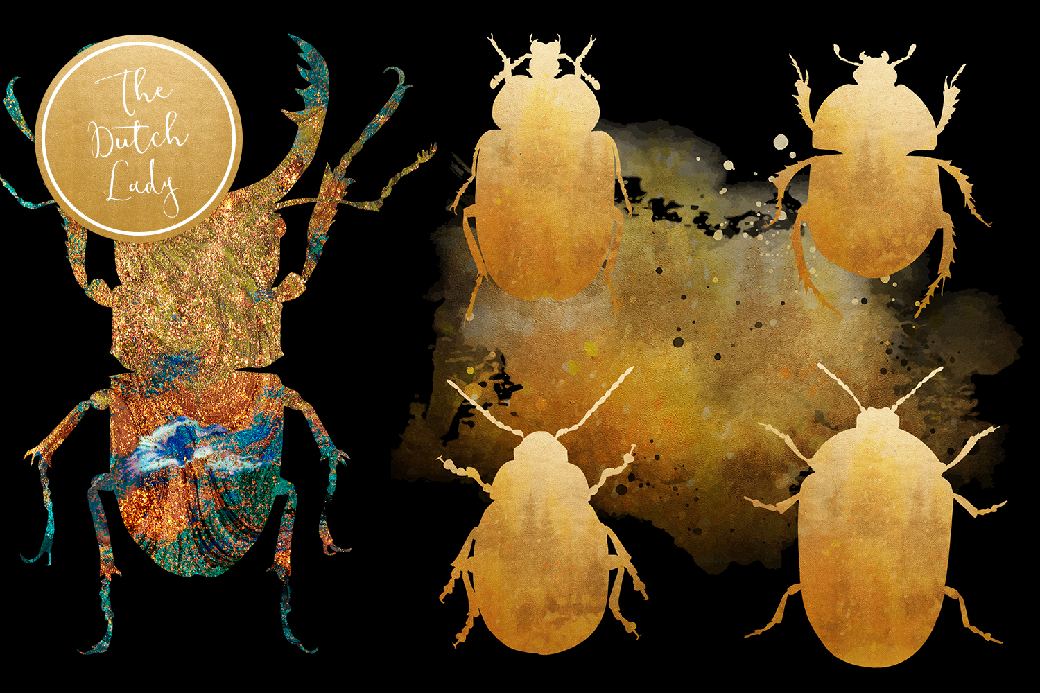 Scarabs & Beetles Clipart Set example image 5