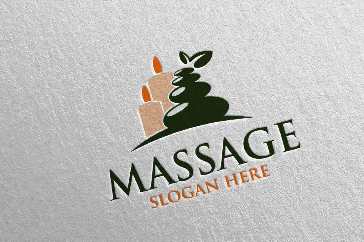 Massage Logo Design 7 example image 3