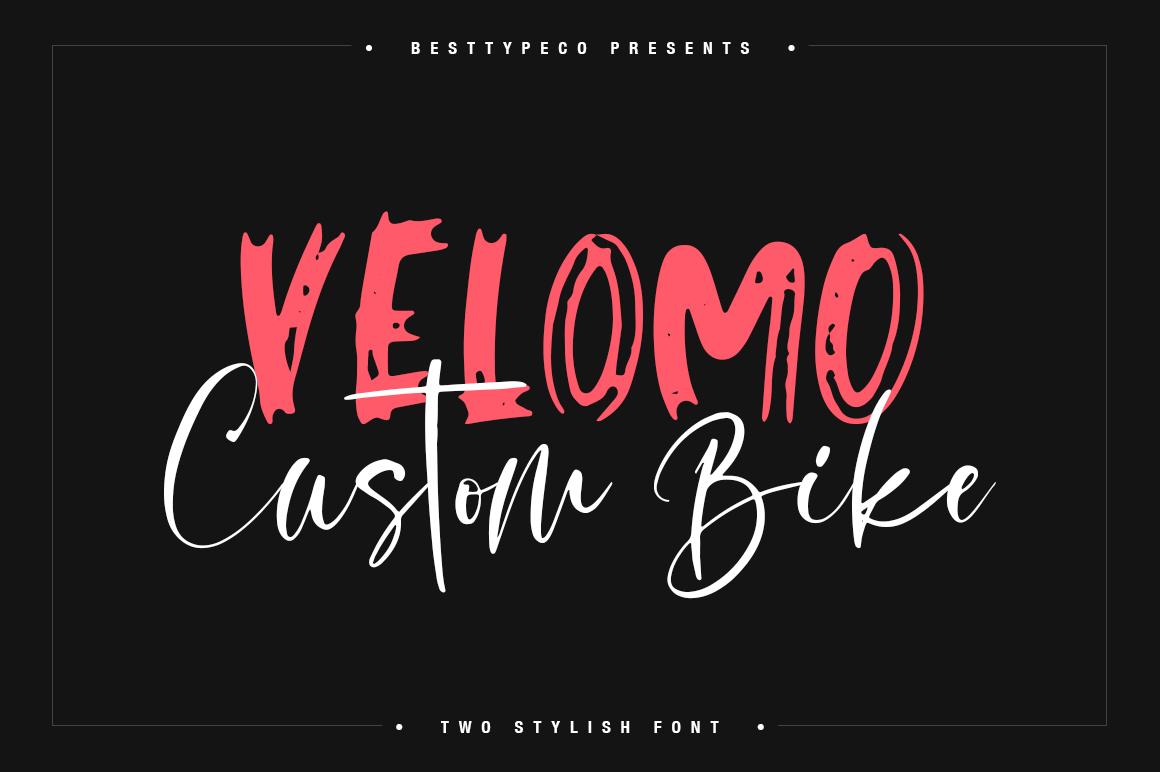 Velomo CB 2 Stylish font example image 1