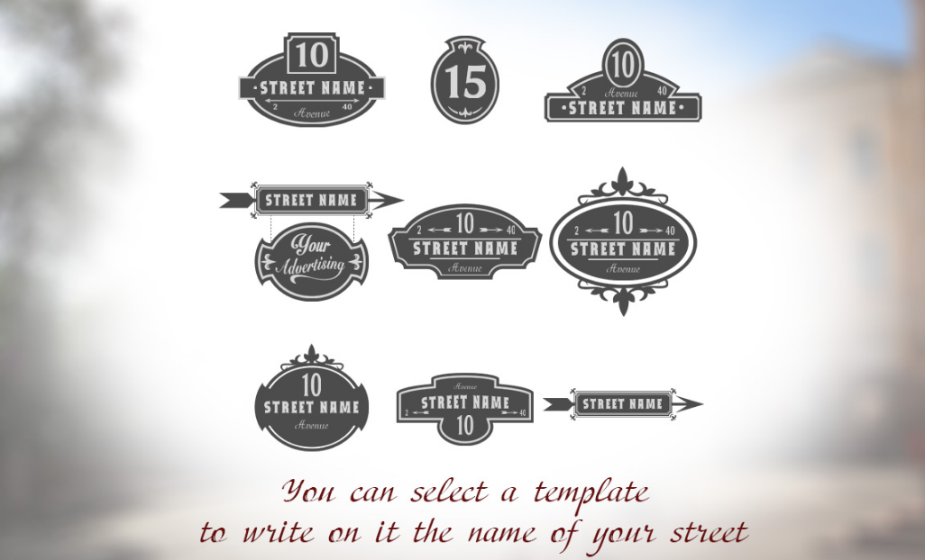 9 Vector retro street signs. example image 2