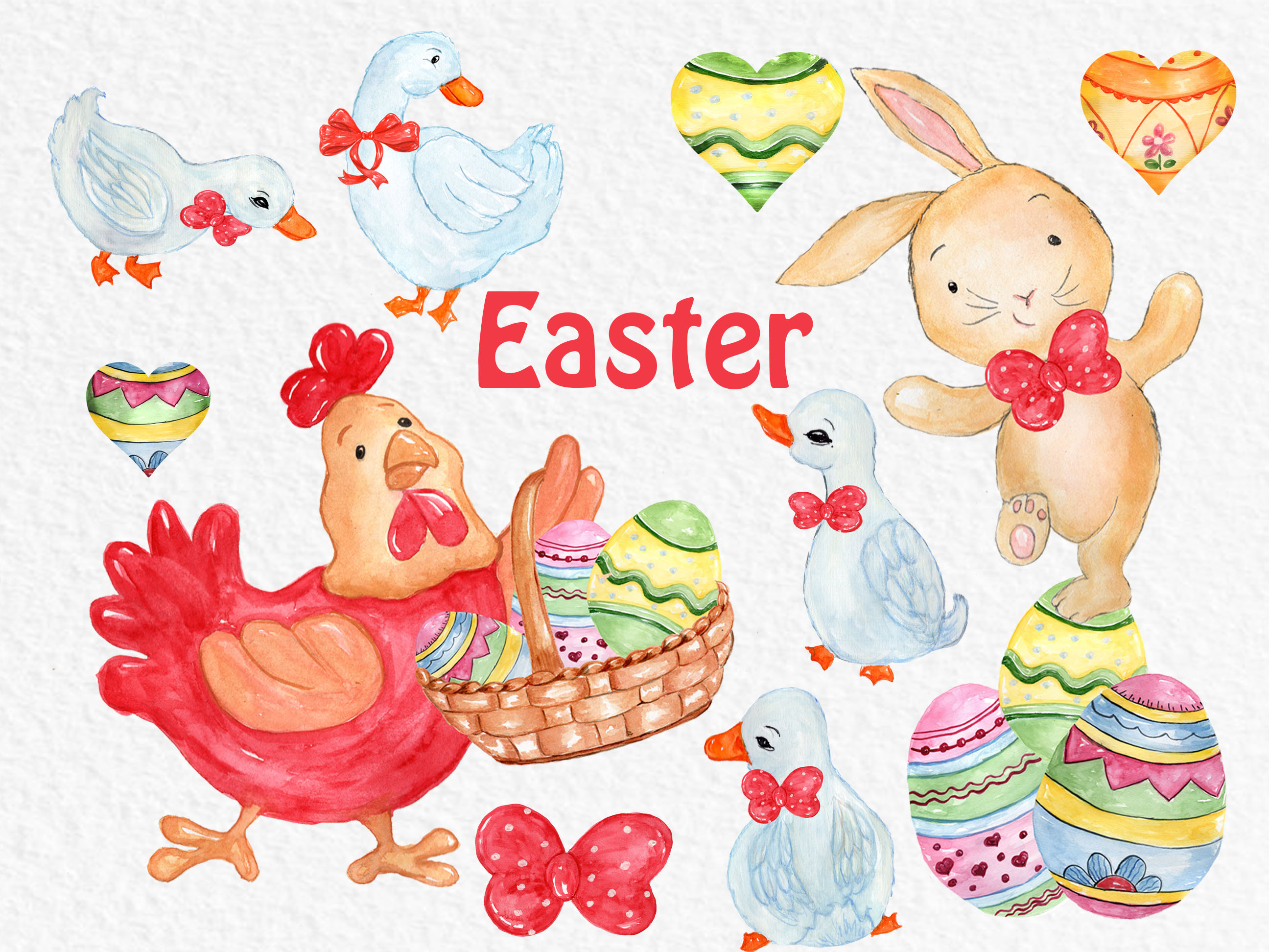 Watercolor Easter clipart example image 4