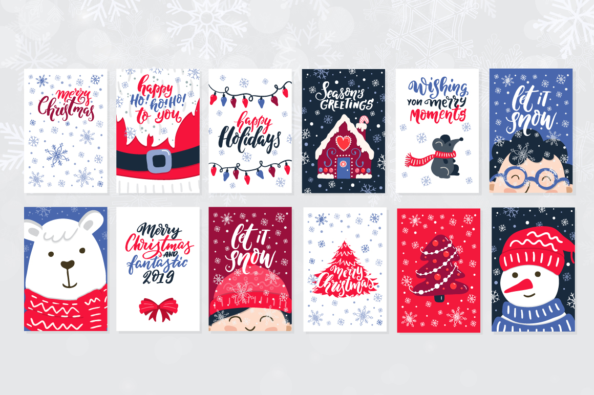 72 Christmas cards example image 2