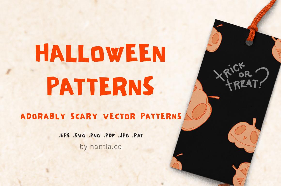 6 Halloween Patterns example image 1