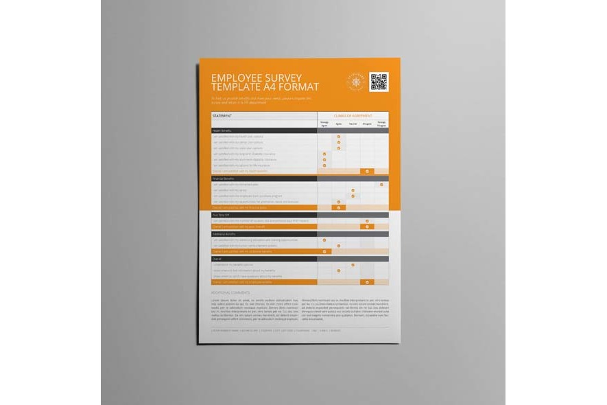 Employee Survey Template A4 Format example image 3