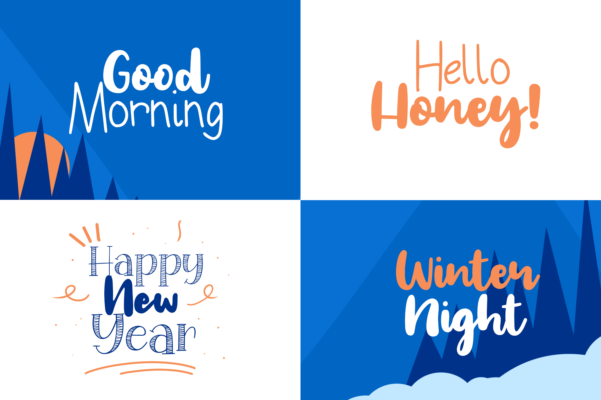 Special Winter 5 Font example image 6