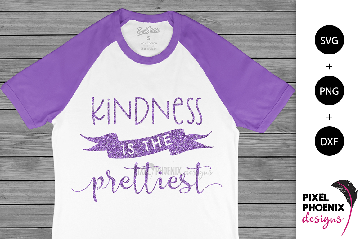 Kindness is the Prettiest SVG example image 2
