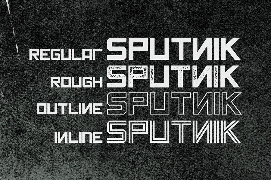 Sputnik Typeface example image 4