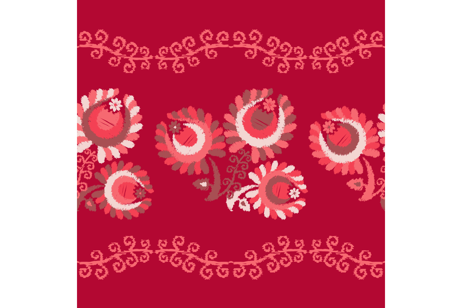 Decorative flowers. Set of 10 seamless patterns. example image 8