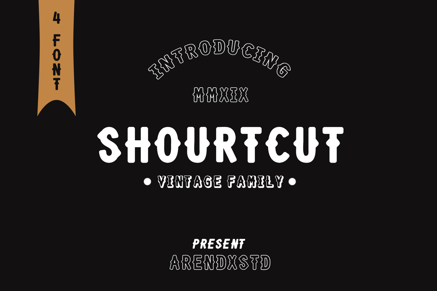 SHOURTCUT Typeface - Display Font example image 1