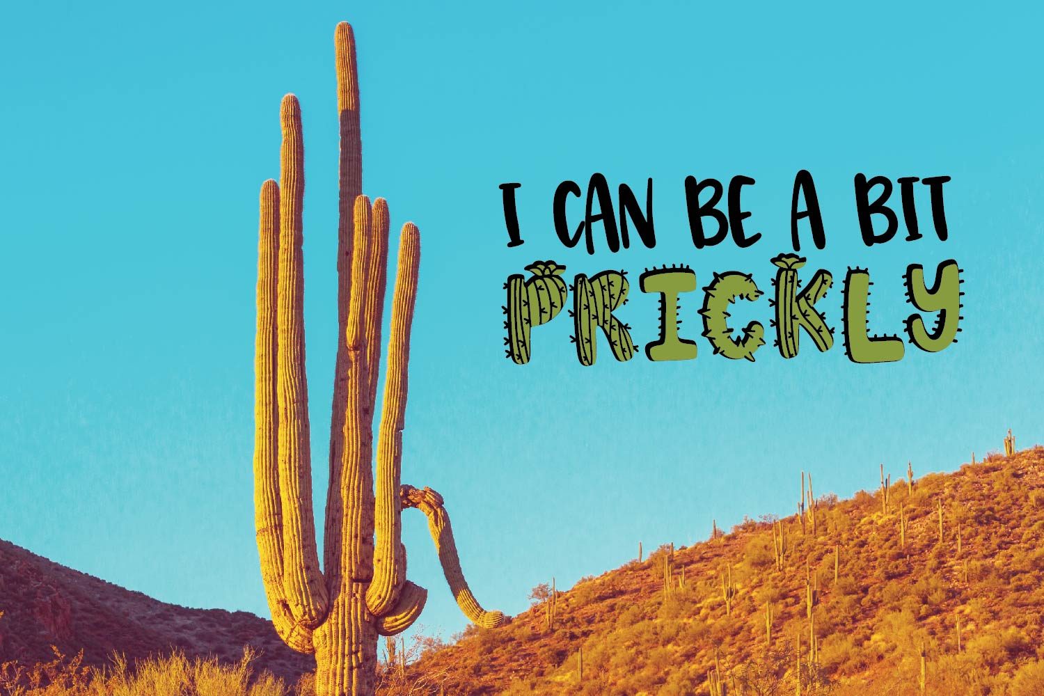 Thirsty Cactus - A Silly Cacti Font example image 5