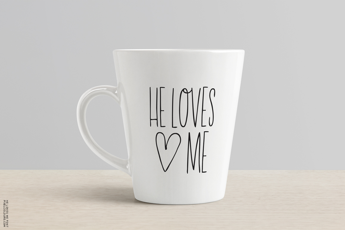 He Loves Me Skinny Font example image 4