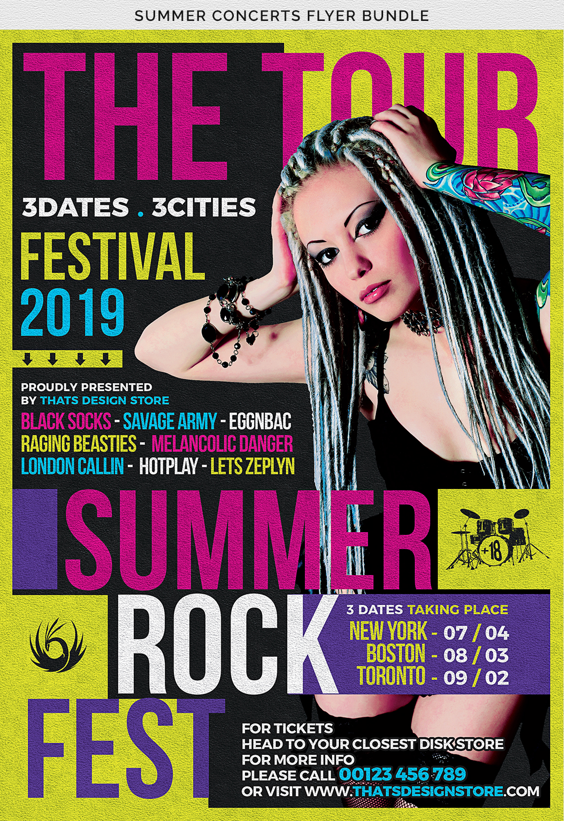 Summer Concerts Flyer Bundle example image 12