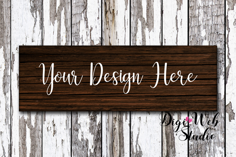 Wood Signs Mockup Bundle - 9 Piece Farmhouse Wood Signs 1 example image 2