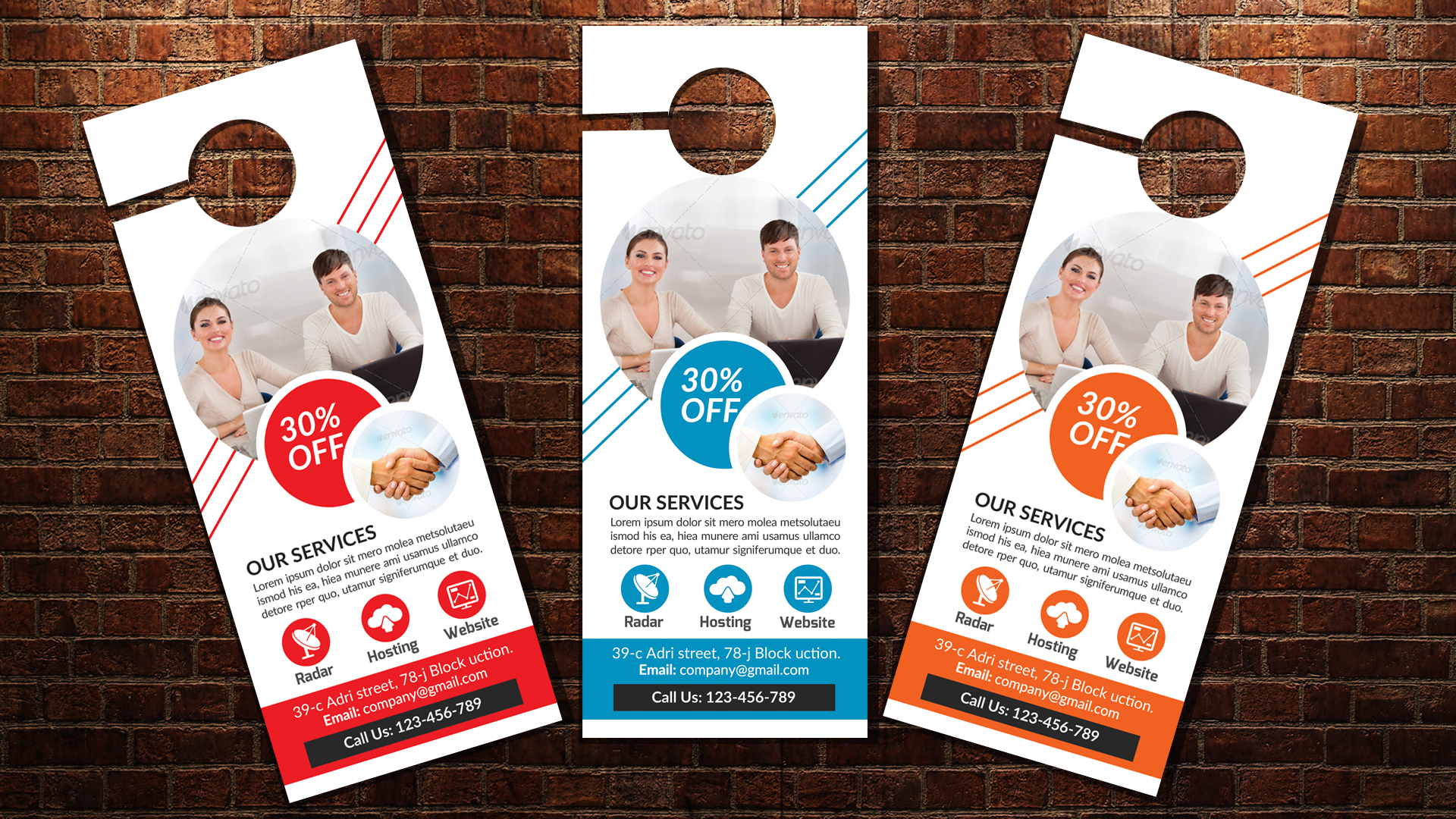 Business Solutions Consultant Door Hangers example image 3