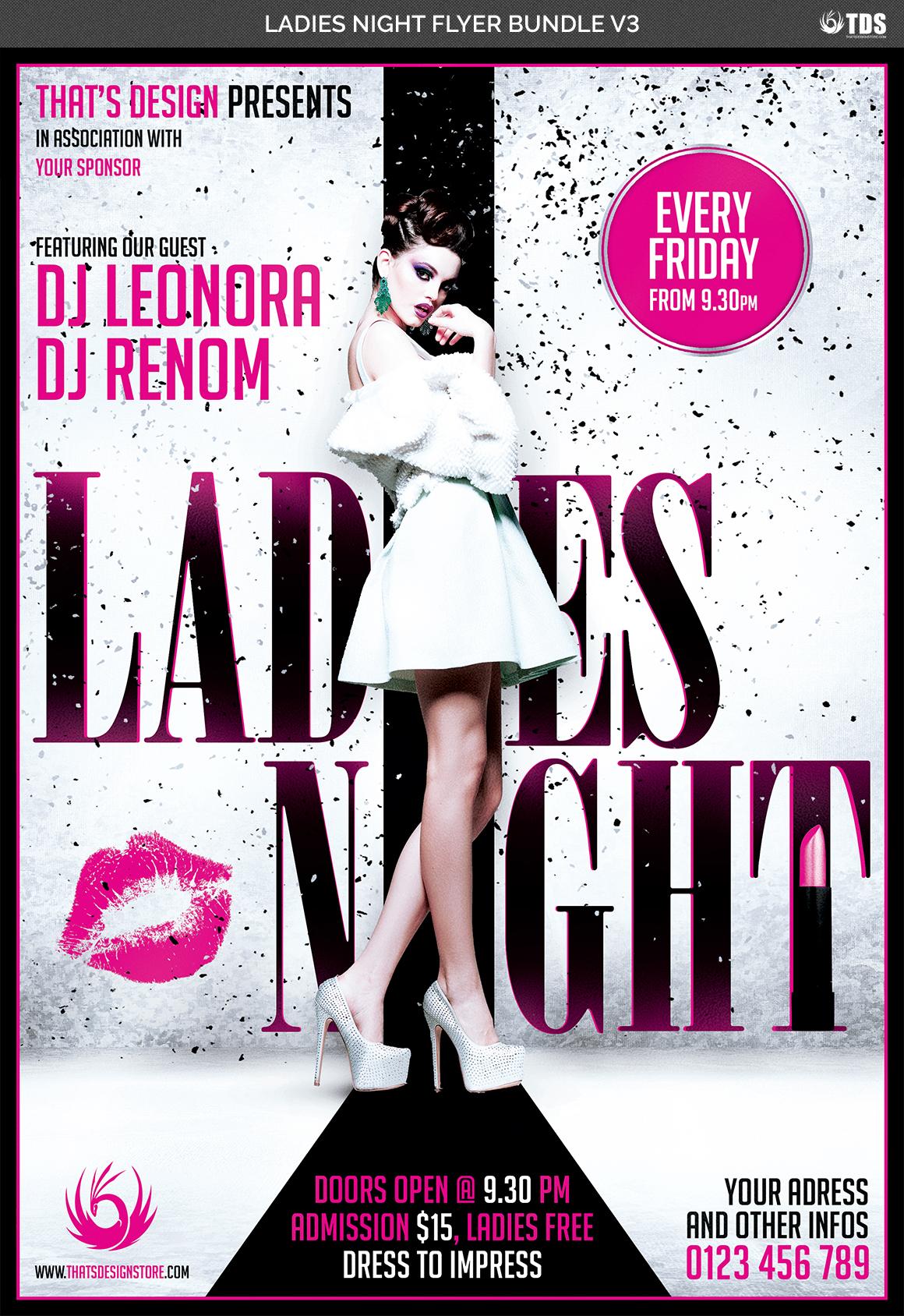 Ladies Night Flyer Bundle V3 example image 6