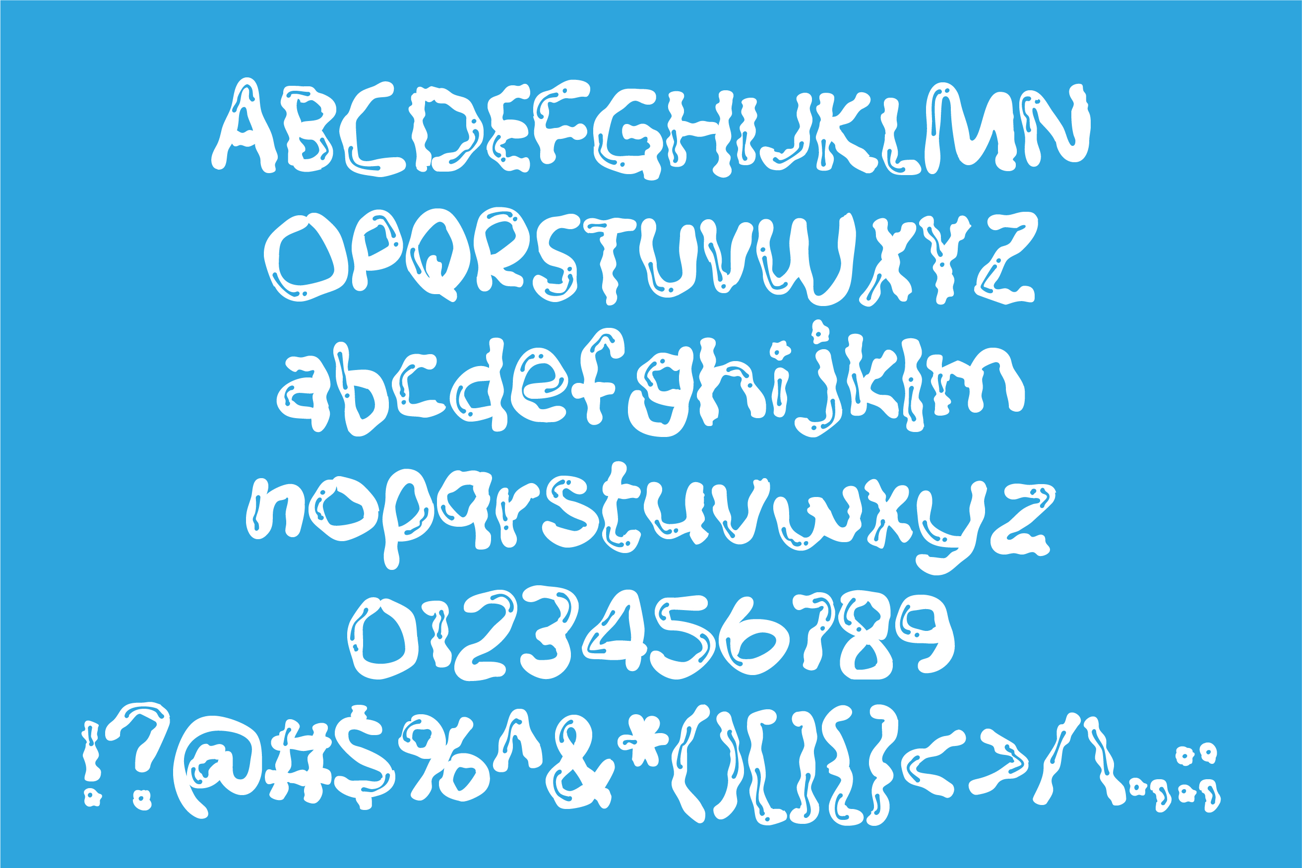 ZP White Glue Font Duo example image 2
