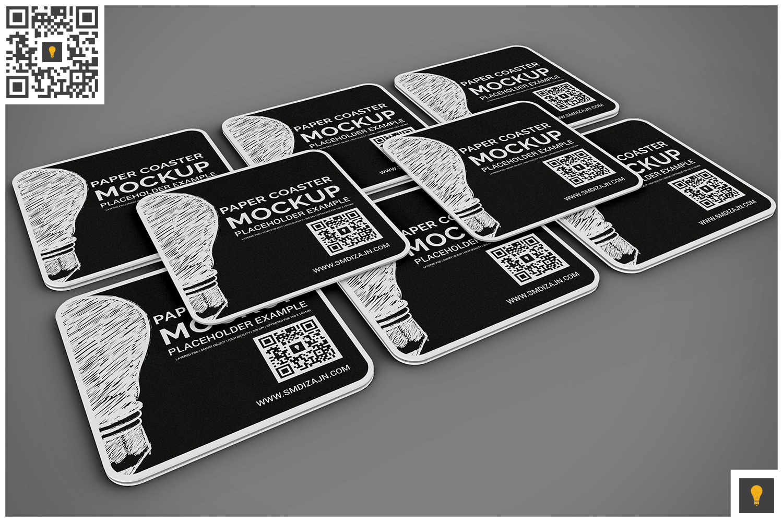 Paper Coaster Mockup example image 6