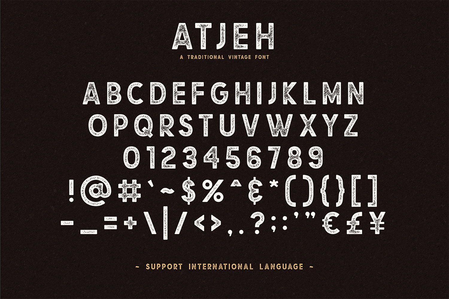 Atjeh - A Traditional Vintage Font | 4 Font Files example image 5