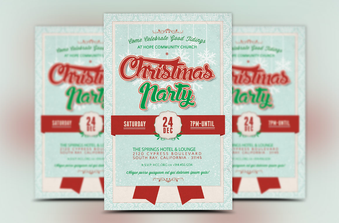 Church Christmas Party Flyer Template example image 2