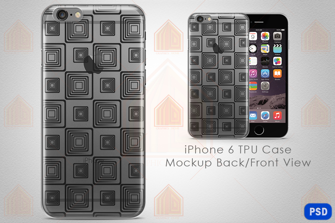 iPhone 6 TPU Case Mockup Back-Front View example image 1