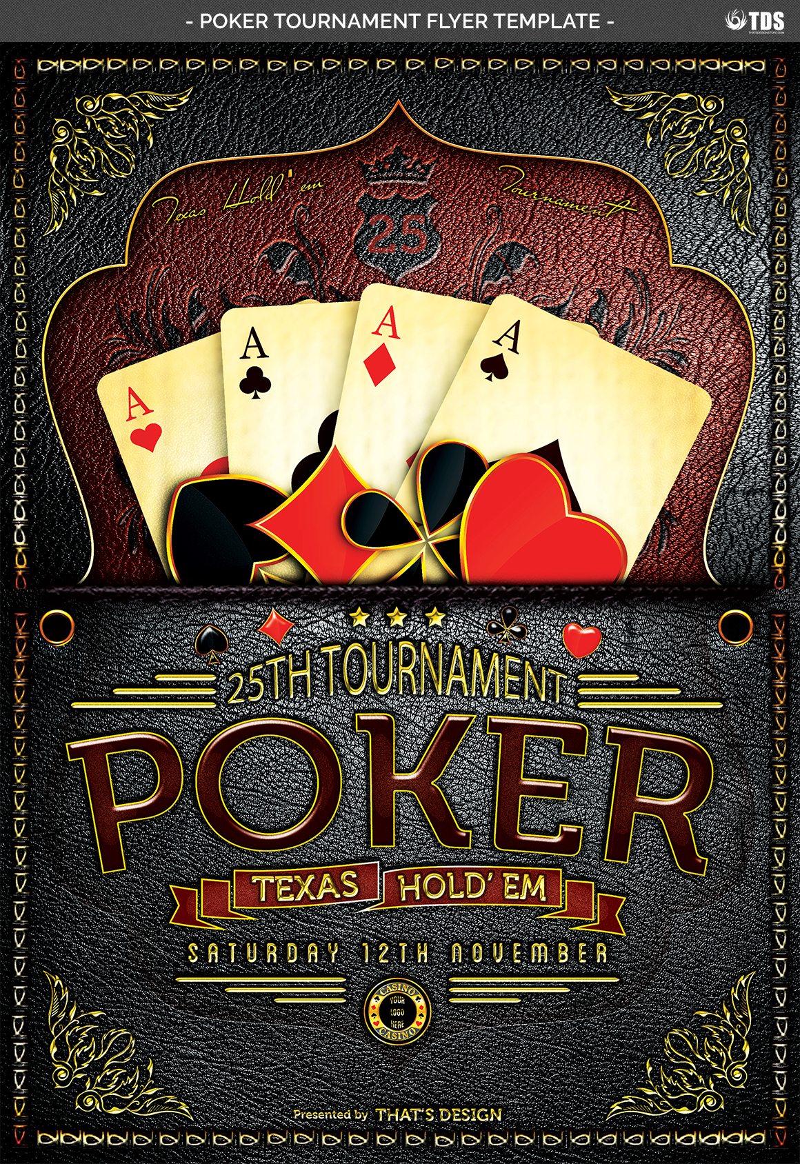 Poker Tournament Flyer Template example image 7
