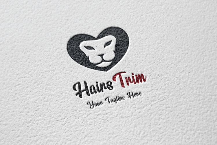 Saloon Heart Shape Logo example image 2