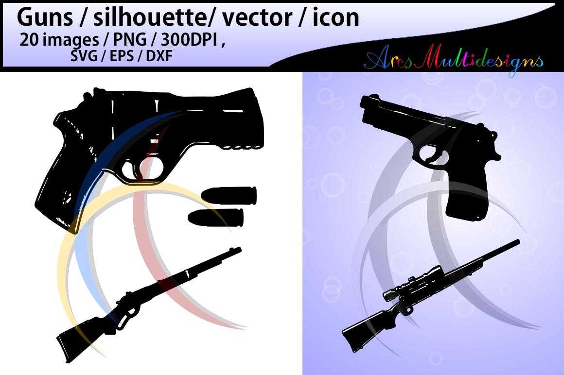 gun silhouette svg / guns / gun clipart / nerf guns / nerf gun clipart / silhouette / High Quality / svg format / EPS / PNG / SVG / DXf - vector example image 2