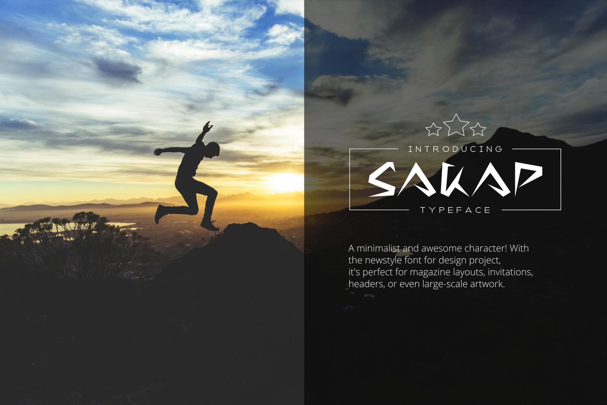 Sakap Typeface Font example image 2