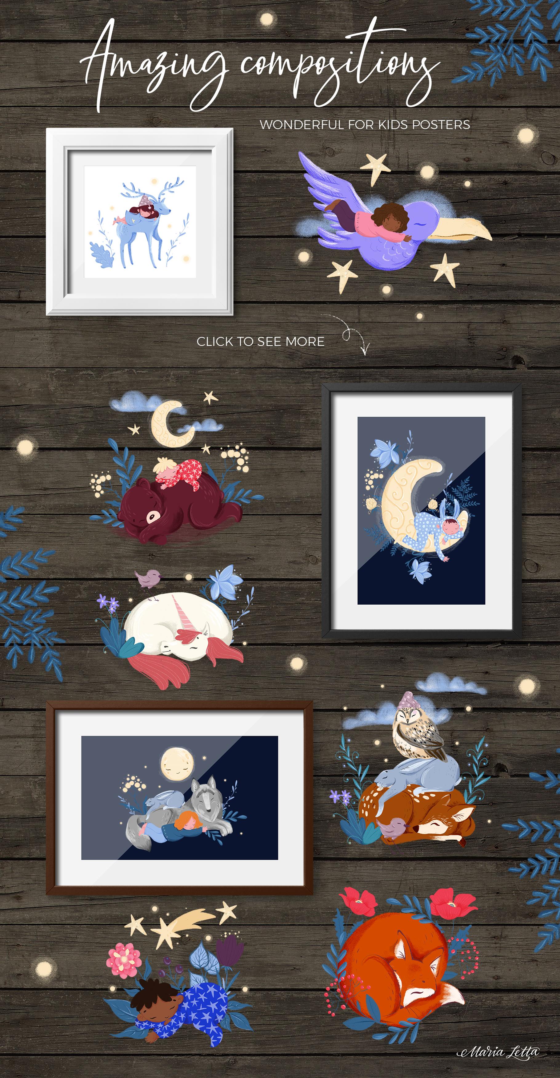 Good night - kids design creator example image 8