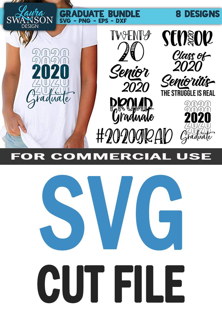 Graduate Bundle - 2020 - SVG, PNG, EPS, DXF example image 10
