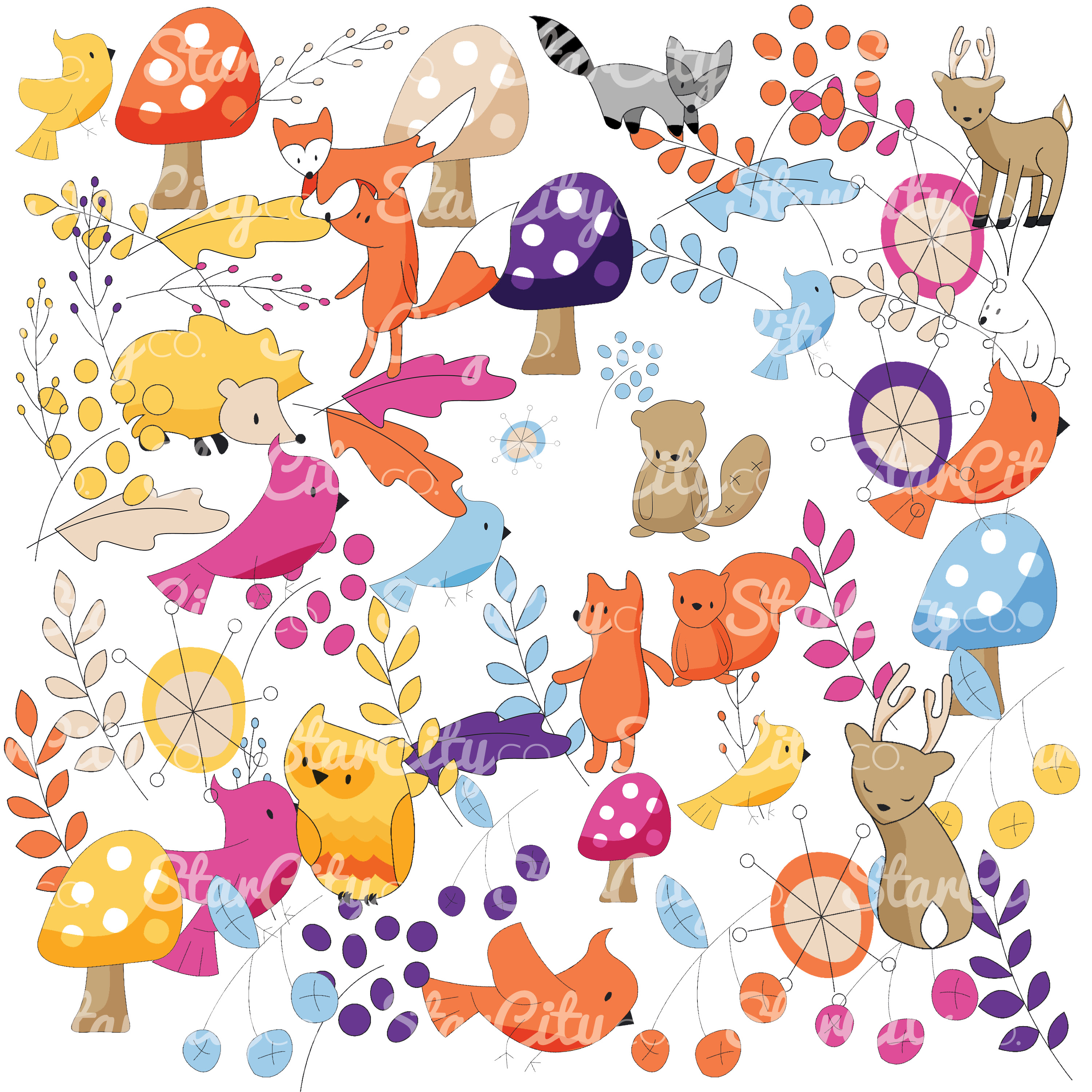 Forest Friends Clip art Graphics example image 3