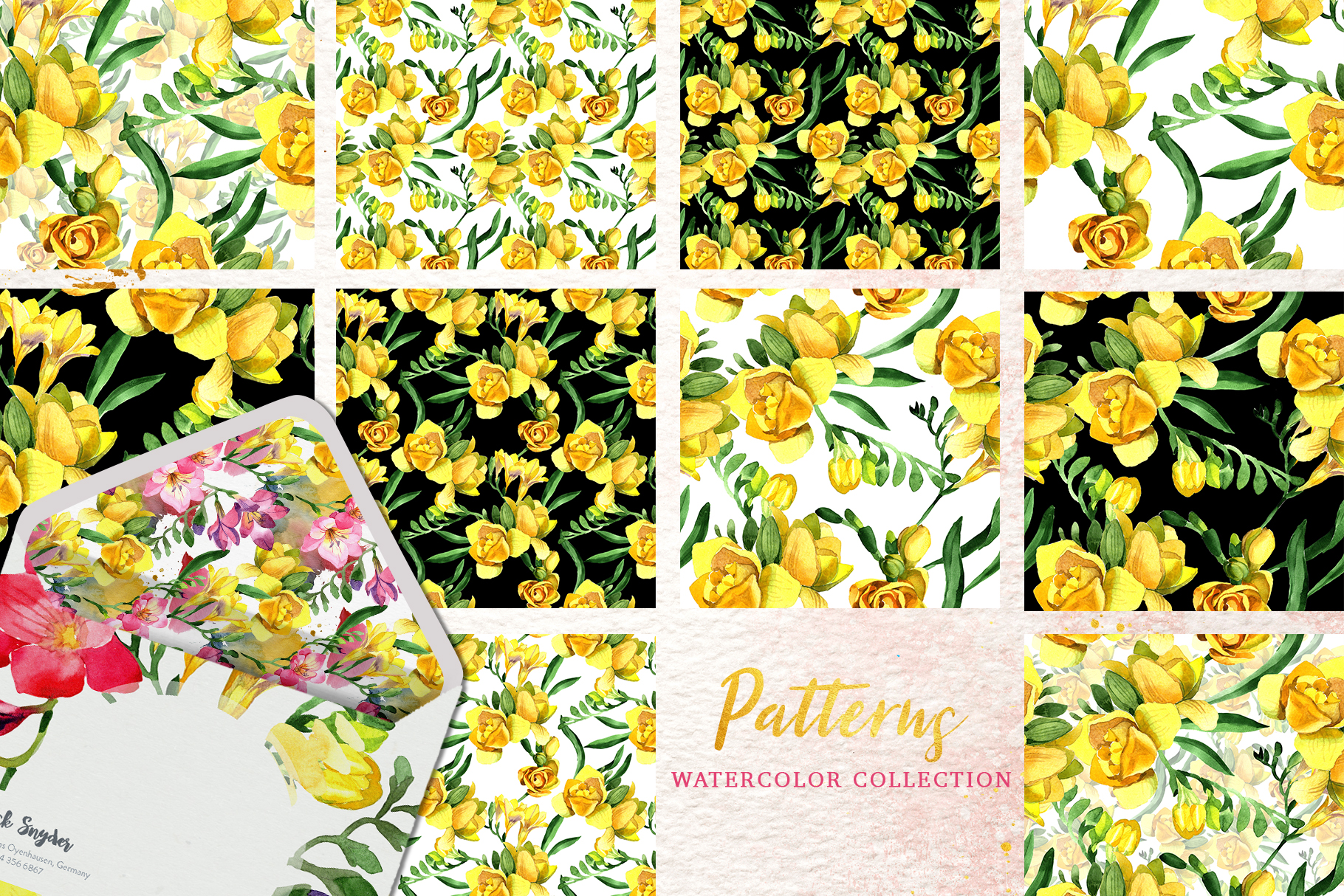 Floral Design collection watercolor png example image 5